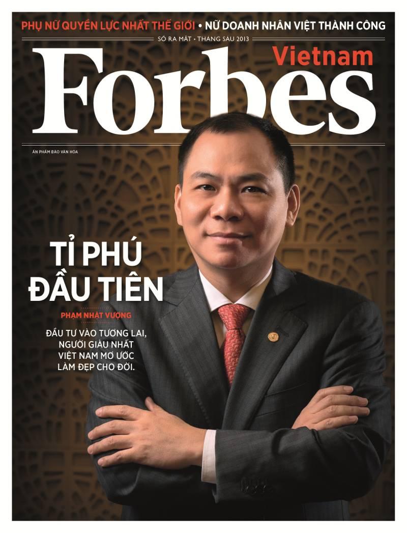 Phạm Nhật Vượng là tỷ phú đầu tiên của Việt Nam có tên trong bảng xếp hạng của Forbes