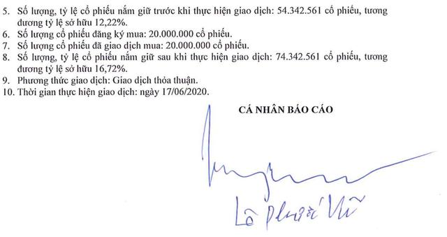 """Tuyên bố """"lên núi ở ẩn"""", đại gia Lê Phước Vũ vẫn chi đậm mua sắm cổ phiếu - 1"""
