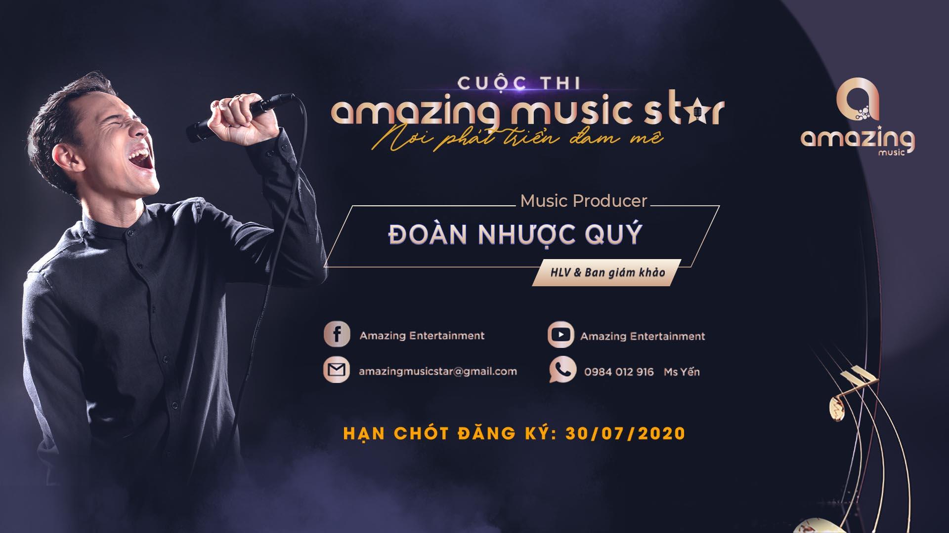 """CEO Adam Muzic làm Host Amazing Music Star mùa 2: """"Tôi khó tính và luôn công tâm trong các cuộc thi"""""""